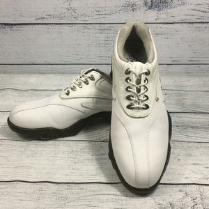 FootJoy Synr-G White Lizard Leather Golf Shoes